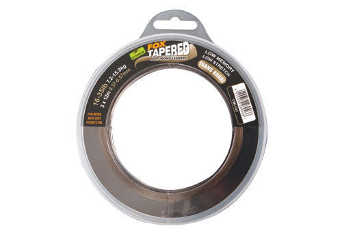 3 x 12m Fox Tapered Soft Mono Leader 0,33-0,50mm