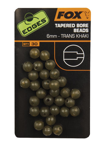30 Stück Tapered Bore Beads 6mm